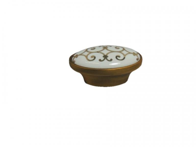 puxador Colonial Com Porcelana 203