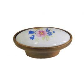 Puxador Colonial Com Porcelana 202